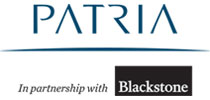 Logo Patria in partnership with Blackstone Investimentos